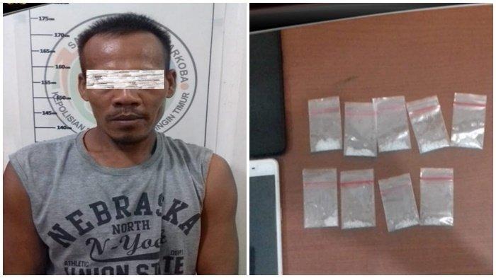 Anggota Polres Kotim Temukan Sembilan Paket Berisi 3,24 Gram Sabu dari Sugiyanto