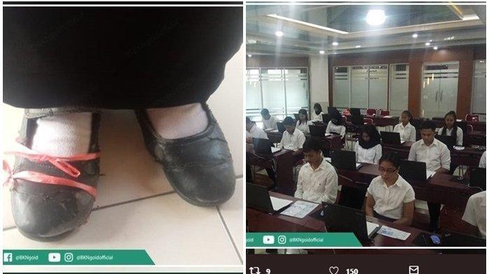 Sepatu Butut Diikat Tali, Peserta Tes PKN STAN Sekdin 2019 Ini Bikin Haru Sekaligus Salut