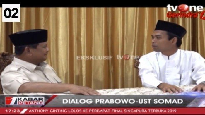 Ustadz Abdul Somad Bertemu Prabowo Jelang Pilpres 2019, 5 Hal Ini Jadi Pembahasan