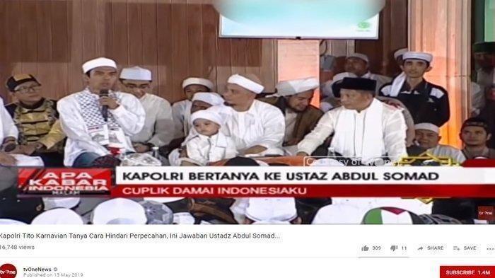 Begini Reaksi Kapolri Ketika Ustadz Abdul Somad Tanyakan Soal Penangkapan yang Terkesan Tebang Pilih