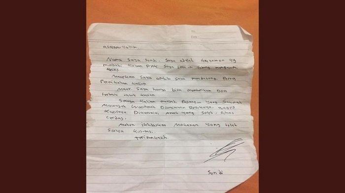 Viral Surat Pria Mengaku Korban PHK dan Numpang Makan di Pesta Pernikahan, Begini Reaksi Pengantin
