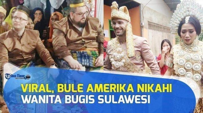 Viral Bule Amerika Nikahi Wanita Sulawesi, Lihat Reaksinya Pakai Baju Adat