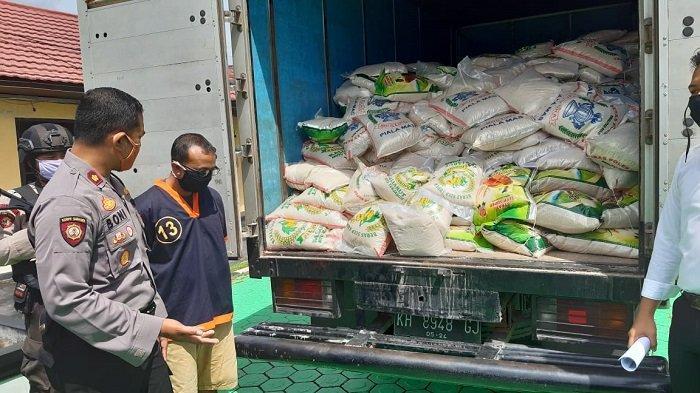 Polisi Kobar Amankan 2.340 Kg Beras Oplosan Tak Layak Konsumsi, Dipasarkan ke Tiga Kabupaten