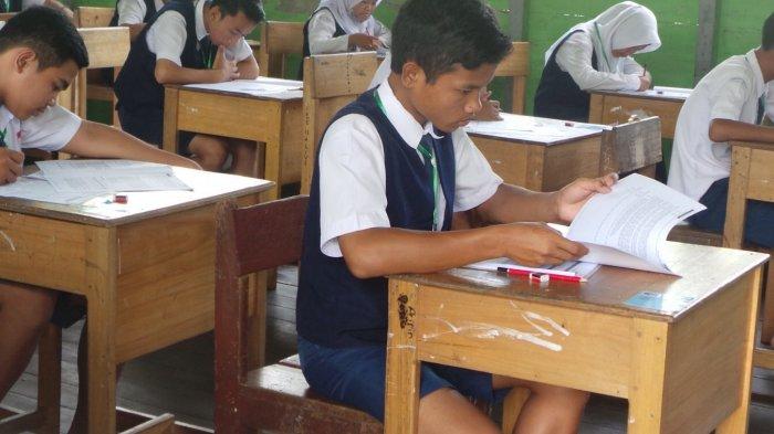 47 Siswa SMP Terbuka Ikut Ujian Nasional di SMPN 3 Kapuas