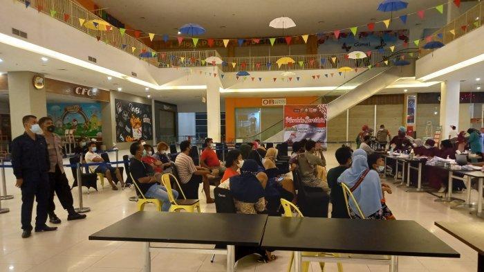 Covid-19 di Kalteng, Panitia Vaksinasi Massal di Borneo City Mall Sampit Tambah 1.000 Dosis