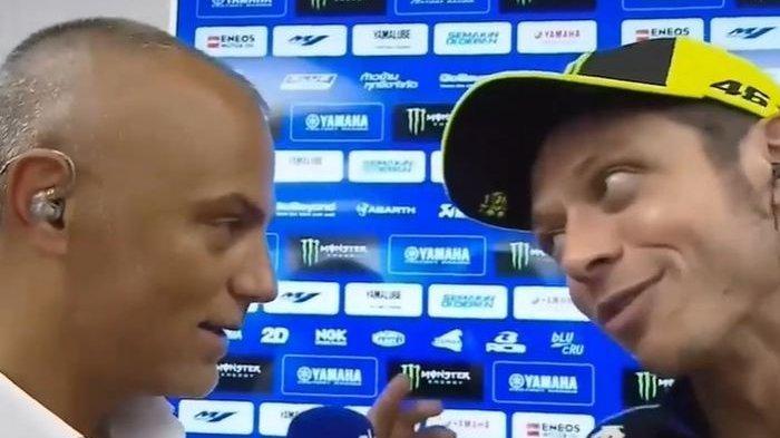 Insiden MotoGP Catalunya - Valentino Rossi Protes Jurnalis Soal Vinales dengan Lorenzo