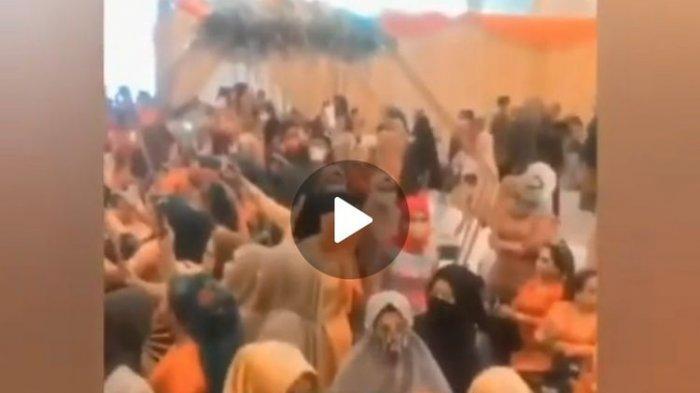 Heboh Video Viral Resepsi Nikah di Samarinda Langgar Prokes, Ibu-ibu Berjoget dan Tak Pakai Masker