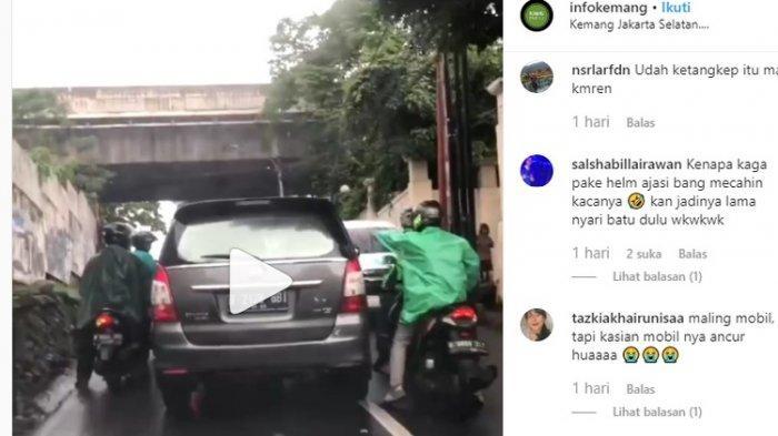VIRAL Video Mobil Diduga Curian dan Dilempari Batu Lalu Diteriaki 'Maling Maling', Bagini Ceritanya