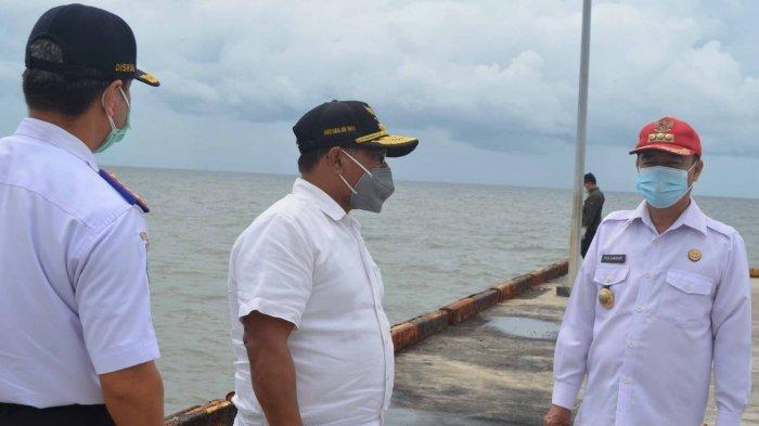 Bupati Seruyan Yulhaidir Berharap Jalan Menuju Pelabuhan Segintung Diperbaiki