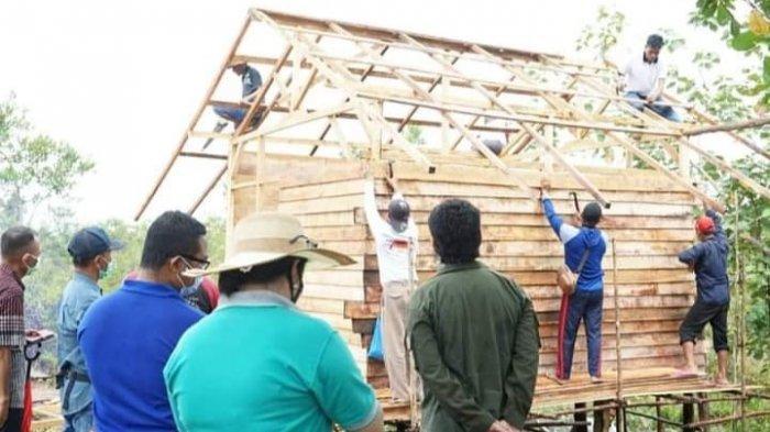 Rumah Raiz tak Reot Lagi Berkat Bantuan Swadaya Warga Palangkaraya Peduli Orang tak Mampu