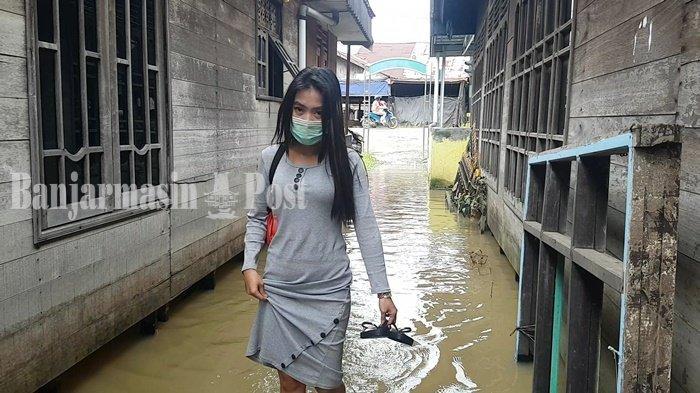 Banjir, Warga Martapura Kalsel Mulai Terancam Terserang Kutu Air