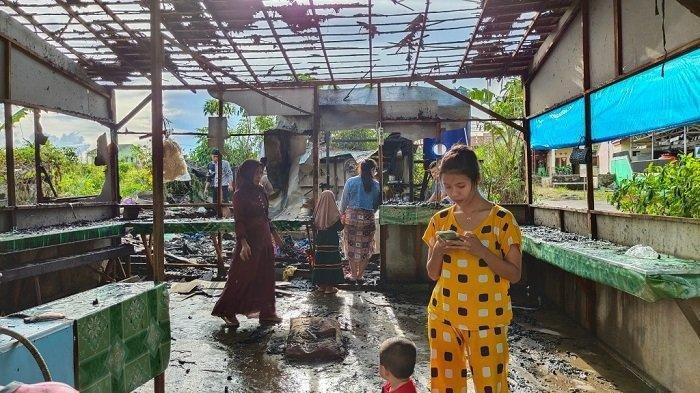 Ditinggal Pergi ke Martapura, Warung Makan Muslimah di Banjarbaru Kalsel Dilalap Api