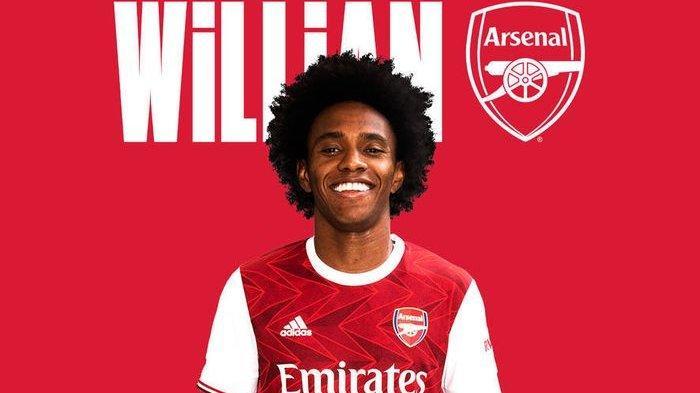 Pakai Nomor Pungggung 12, Willian Resmi Pindah dari Chelsea ke Arsenal