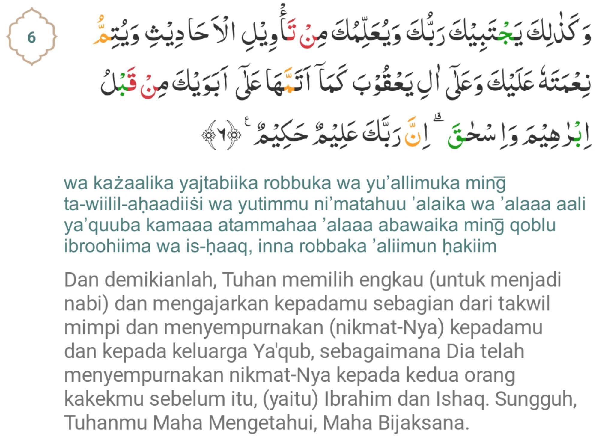 QS Surah Yusuf ayat 4