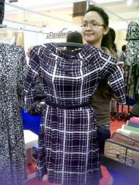 Mini Dress Leher Jatuh