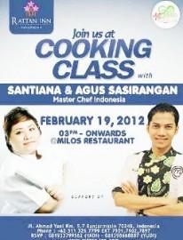 Cooking Class bersama Chef Santiana