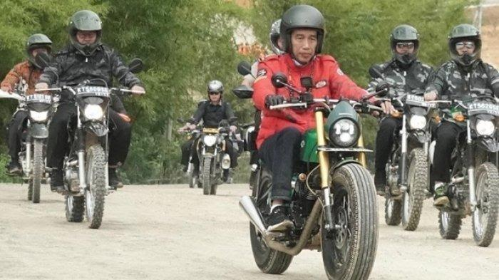 Jajal Jalan Trans Kalimantan Gunakan Motor Bergaya Custom, Ini Spesifikasi Motor Presiden Jokowi