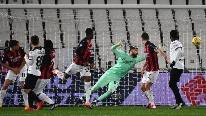 BERITA AC Milan, Rekor Buruk Rossoneri, Nol Shot on Goal, Dihajar 2 Gol Tim Papan Bawah Liga Italia!