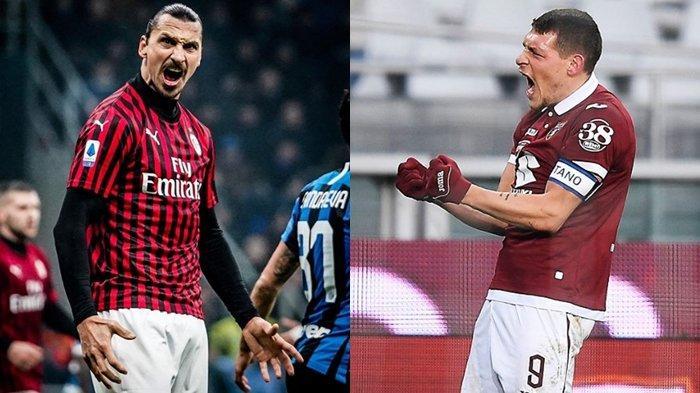 Prediksi Liga Italia AC Milan vs Torino, Statistik Andrea Belotti dkk Ungguli Zlatan Ibrahimovic cs