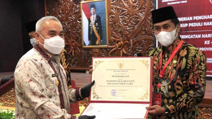 Kabupaten PPU Raih Penghargaan Peduli HAM, Bupati AGM: Terus Tingkatkan Pelayanan