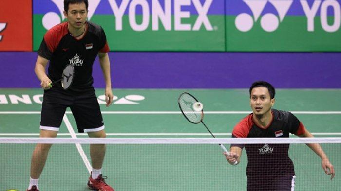 Hasil Hong Kong Open 2019 The Dadies ke Perempat Final, Ini Strategi Ahsan/Hendra Hadapi Juniornya