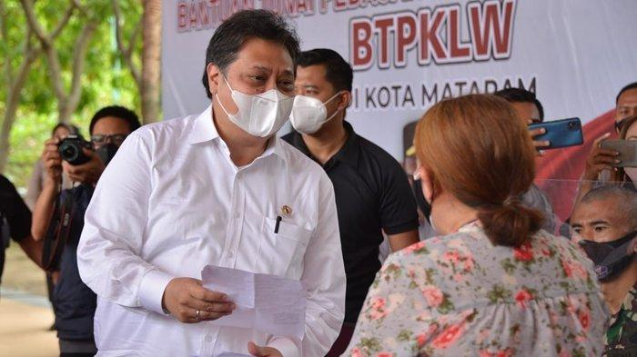 Menko Airlangga Sebut Bantuan Tunai PKL dan Warung di Provinsi NTB Paling Cepat dan Tepat Sasaran