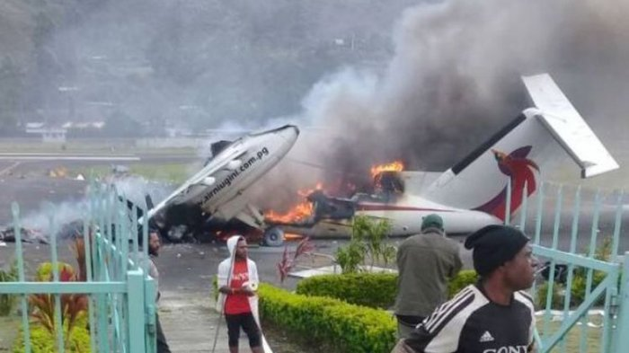 Aksi Bakar Pesawat di Papua Nugini, Akibat Kandidat  Kalah Dalam Pemilu