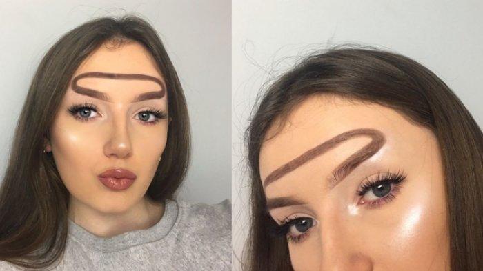 Gaya Makeup Bentuk 'Alis Halo' Ini Lagi Ngehits di kalangan Beauty Blogger, Tertarik Coba?