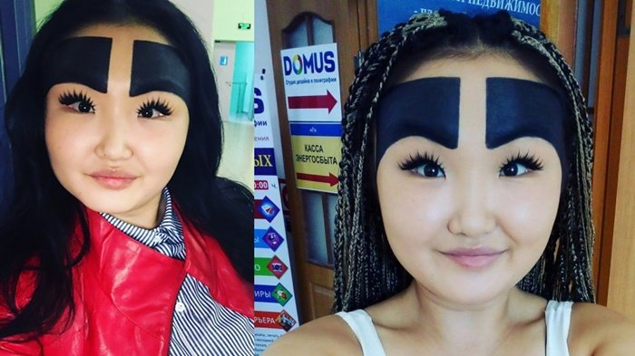 Tinggalkan Alis Sinchan, Kini Gaya Makeup Alis Tebal hingga Menutupi Jidat Ini Jadi Tren Kekinian