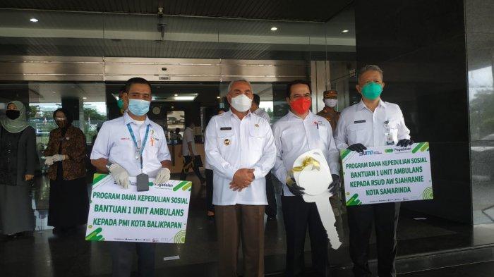 Pegadaian Kalimantan Sumbang Satu Unit Mobil Ambulance untuk PMI Kota Balikpapan