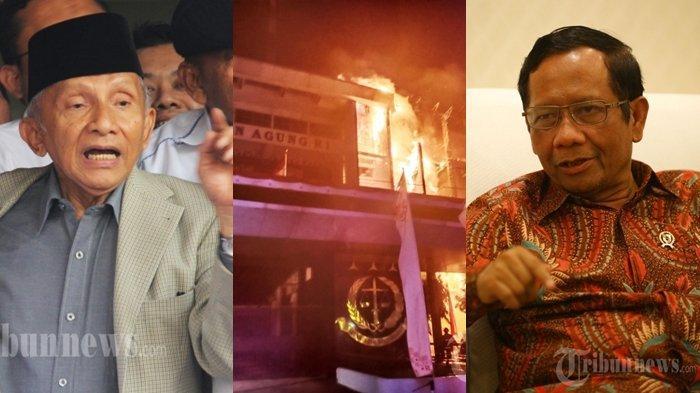 TERBONGKAR di Mata Najwa, Mahfud MD Sempat Curiga Seperti Amien Rais, Kejanggalan Kebakaran Kejagung