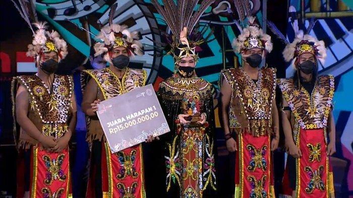 Tim Kreasi Seni Anak Paser yang berhasil meraih juara harapan 1 dalam lomba Karya Musik Anak Komunitas yang diselenggarakan Kemenparekraf.