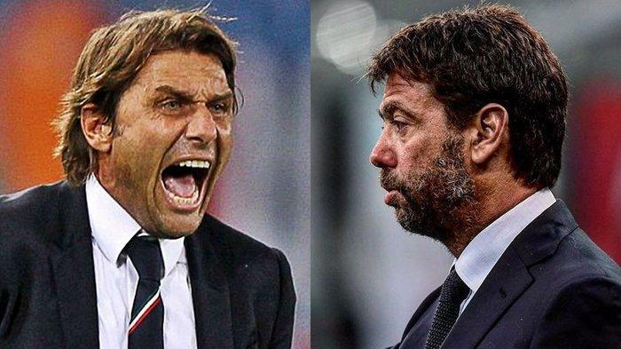 BUKAN SEKALI, Jejak Seteru Bos Juventus dengan Pelatih Inter Milan, Andrea Agnelli vs Antonio Conte