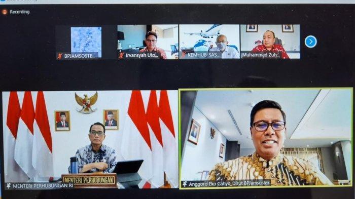 Audiensi BPJamsostek dan Kemenhub, Deputi Direktur Wilayah Kalimantan SiapImplementasikan ke Daerah