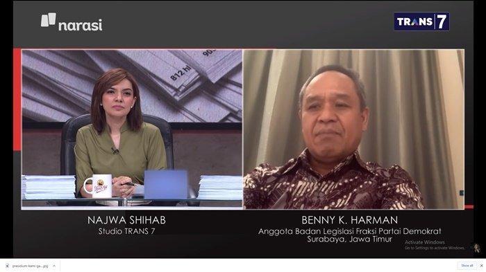 DIBONGKAR di Mata Najwa, Pelanggaran Proses UU Cipta Kerja di DPR RI, Benny K Harman Sebut RUU Hantu