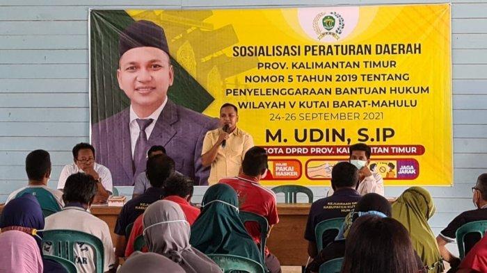 Anggota DPRD Kaltim Sosialisasikan Perda Bantuan Hukum di Kubar, Sasar Warga Tak Mampu