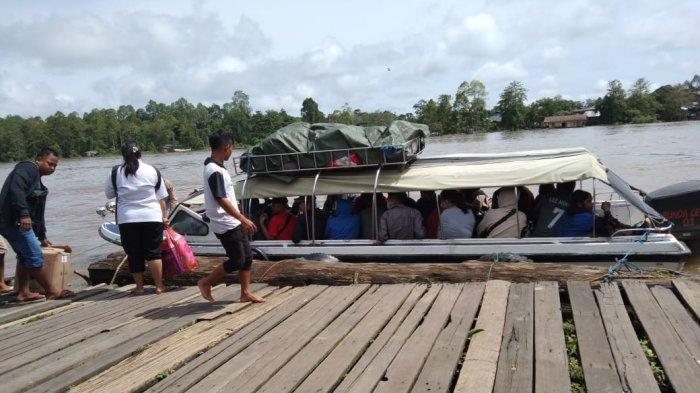 Akses Masuk Kubar-Mahulu Dibuka, Pengelola Jasa Transportasi Sungai di Pelabuhan Tering Kewalahan