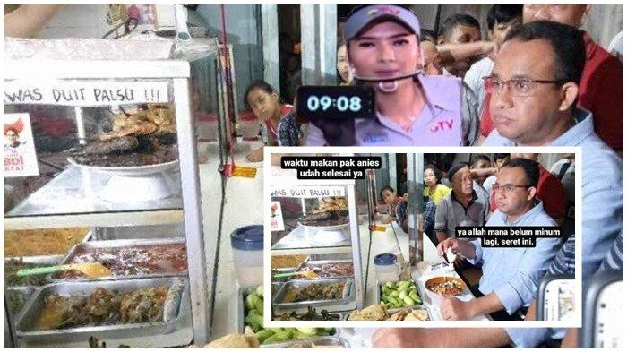 Reaksi Anies Lihat Fotonya Dijadikan Meme Makan di Warteg Cuma 20 Menit: Waktu Sisa 9 Menit 8 Detik