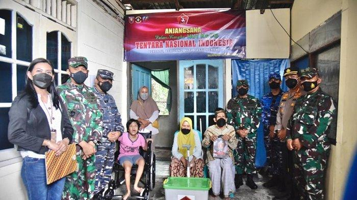 Sambut HUT ke-76 TNI, Kodam VI/Mlw Anjangsana ke Warga Kurang Mampu