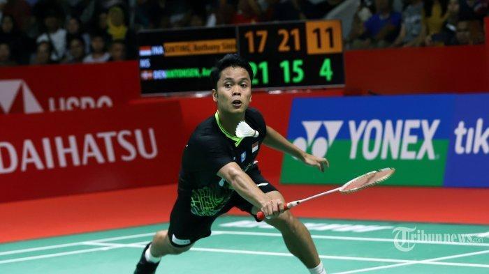 LIVE TVRI! Jadwal Badminton Olimpiade Tokyo 31 Juli 2021, Peluang Anthony Ginting & Greysia/Apriyani