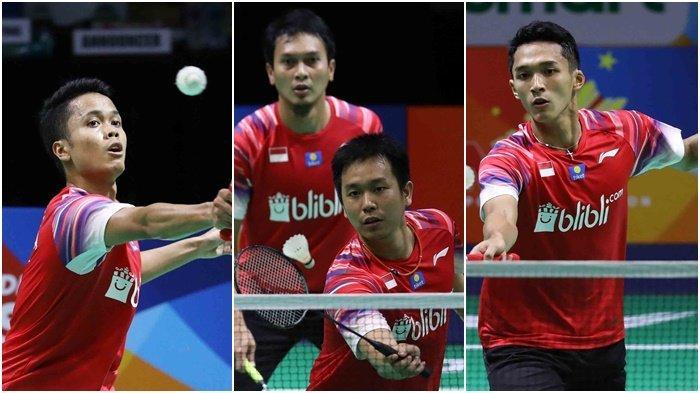 Kalahkan Filipina, Tim Putra Indonesia Pastikan ke Semifinal Badminton Asia Team Championships 2020