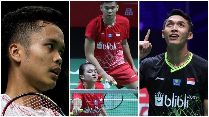 Jelang BWF World Tour Finals 2019, Jonatan Christie, Anthony Ginting, Praveen/Melati ke SEA Games