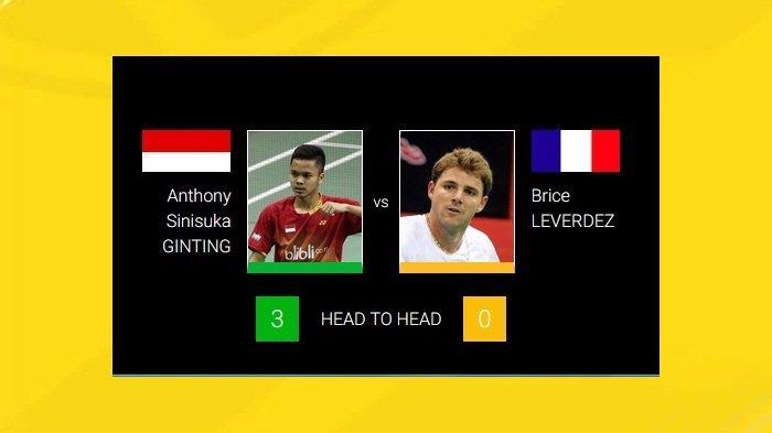 Link Live Streaming Denmark Open 2019 Main Sekarang, Anthony Ginting Bertemu Pemain Perancis