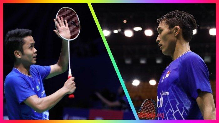 BERLANGSUNG Link Live Streaming Semifinal Hong Kong Open 2019 Jonatan Christie vs Anthony Ginting