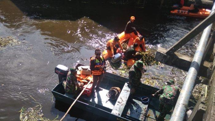 Warga Kelurahan Loa Ipuh Kukar Bantu Kodim Tenggarong Bersih-bersih Sungai,Sampah Ini yang Terbanyak