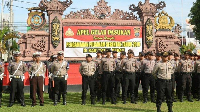 Pemilihan Kepala Kampung - Polres Berau Geser Personel untuk Pengamanan Pilkakam ke Kampung-Kampung