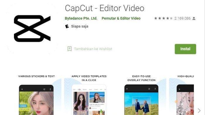 Aplikasi penghasil uang CapCut