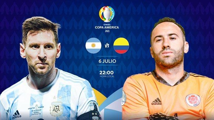 Live Indosiar Pagi Ini, Semifinal Copa America 2021 Argentina vs Kolombia, Link Streaming TV Online