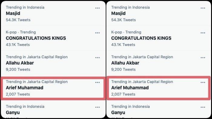 Arief Muhammad jadi trending topic Twitter