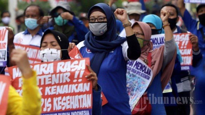 Buruh Menolak Keras Sistem Kejar Tayang RUU Cipta Kerja yang Dipaksakan Pemerintah dan DPR
